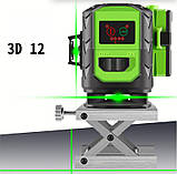 Лазерный уровень Fukuda 3D MW-93D-3GJ (зеленый луч), фото 3