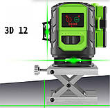 Лазерный уровень Fukuda 3D MW-93D-3GJ (зеленый луч), фото 7