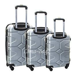 Набор из трех чемоданов 5 Цветов Серый Размеры (20,24,28)