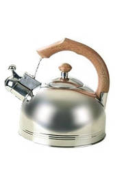 Чайник со свистком Maestro  коричневая ручка 3,5л нержавейка (1308Br MR)