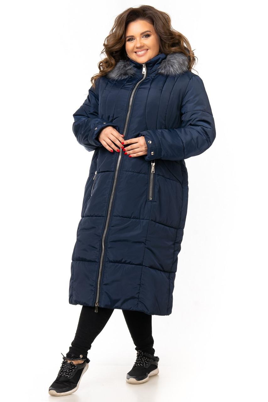 Пальто женское зимнеебольшого размера Супербаталфабричный пошив 58-64 K955G