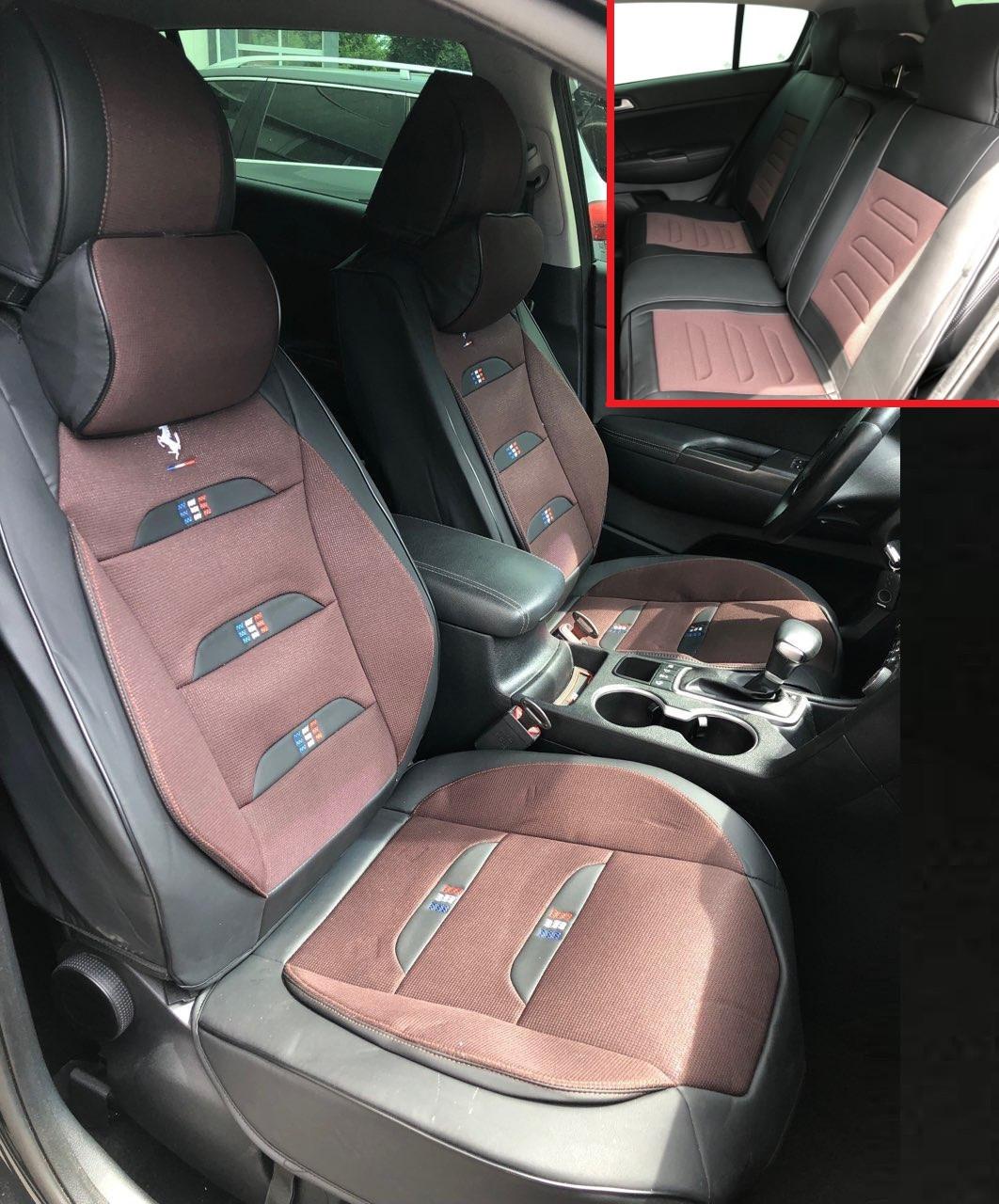 Автомобильные чехлы на сидения Pegas коричневый для Audi авточехлы Audi Q7 4L 2005 -2015