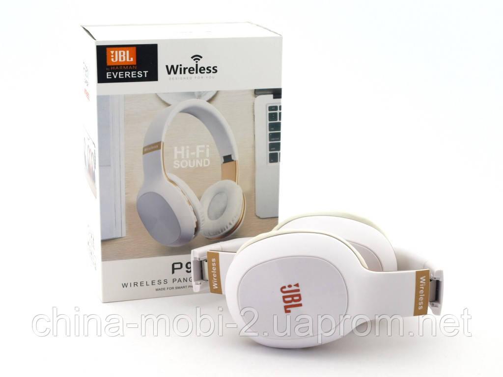 JBL P951 Headset копия, bluetooth наушники с FM MP3, белые