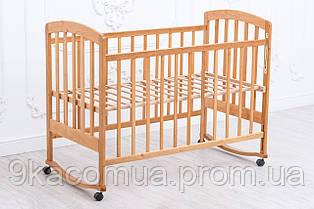 Детская кроватка «LAMA» (натуральный лак)