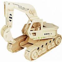 3D Деревянный конструктор. Модель Экскаватор