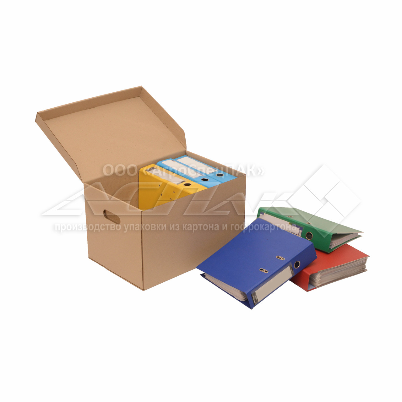 Коробки для документов. Архивные коробки. Архивные боксы 480x325x300 мм. коричневые