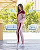 Жіночий велюровий двоколірний прогулянковий спортивний костюм з капюшоном, фото 6