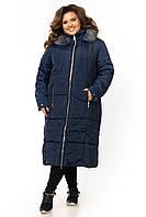 Куртка-пальто женская зимняя большого размера Супербатал 60-68 K1955G