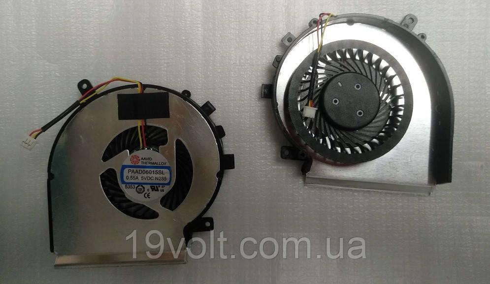 Кулер (вентилятор) MSI GE72, PE60, PE70, GL62 (CPU FAN) DC 5V 0.55 A, 3pin (AAVID THERMALLOY PAAD06015SL