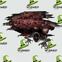 Наклейка напольная Зомби (70х100см), фото 1