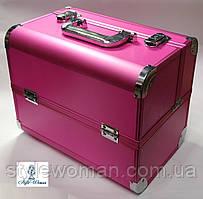 Б'юті алюмінієвий кейс валізу з ключем малинка