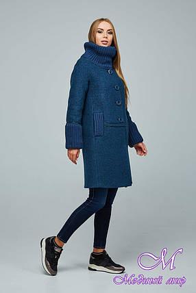 Женское стильное осеннее пальто (р. 44-54) арт. 1066 Тон 108, фото 2