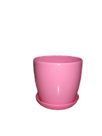 """Вазон цветочный """"Матильда"""" с подставкой V=1,4л (d=14см h=12,5см) розовый """"Омела"""", фото 1"""