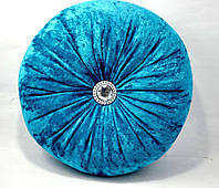 Подушка декоративная Велюр с камнями 40х40см