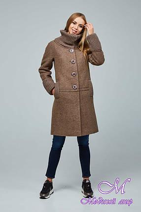 Красиве жіноче демісезонне пальто (р. 44-54) арт. 1066 Тон 145, фото 2