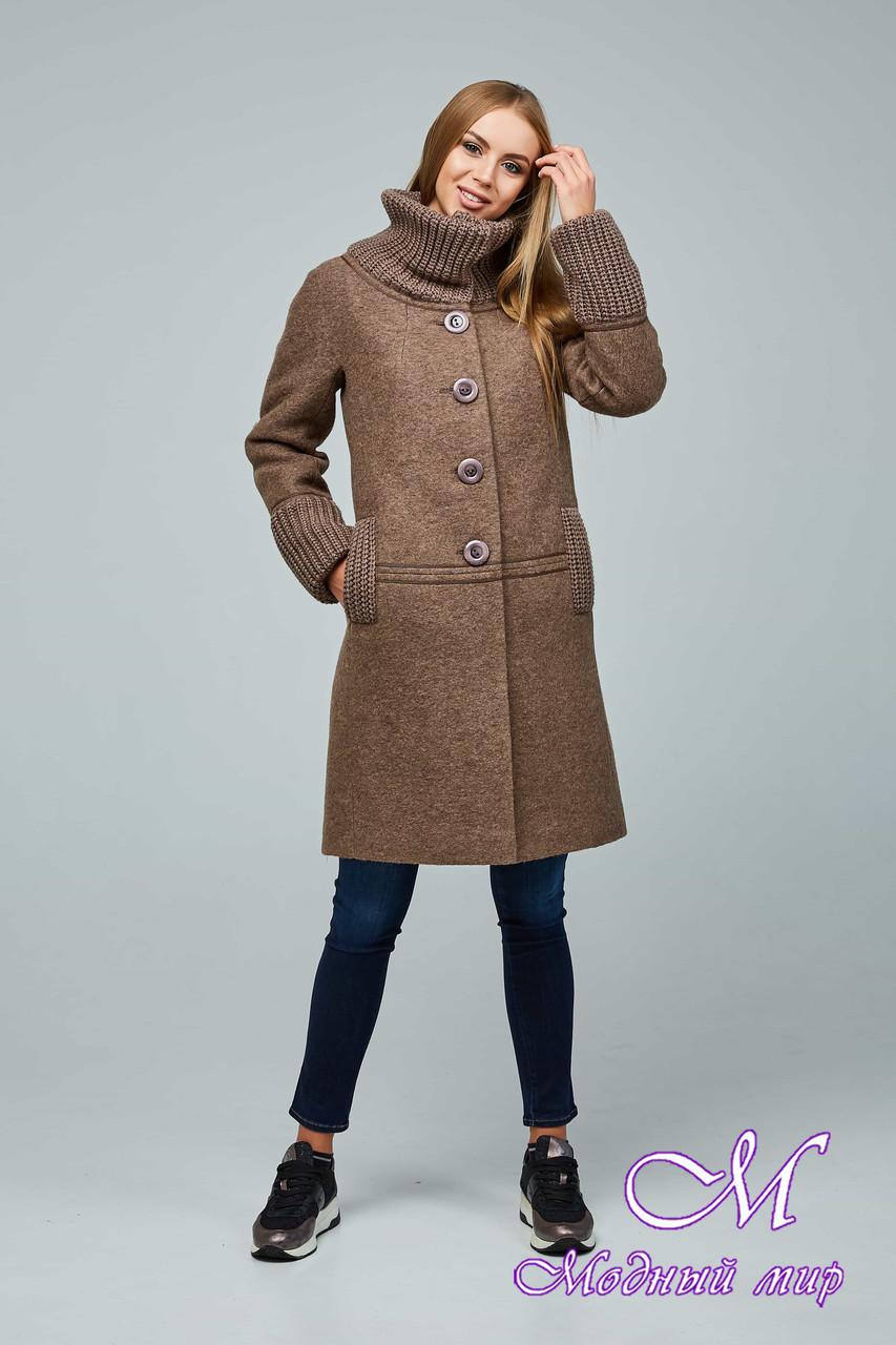 Женское красивое демисезонное пальто (р. 44-54) арт. 1066 Тон 145