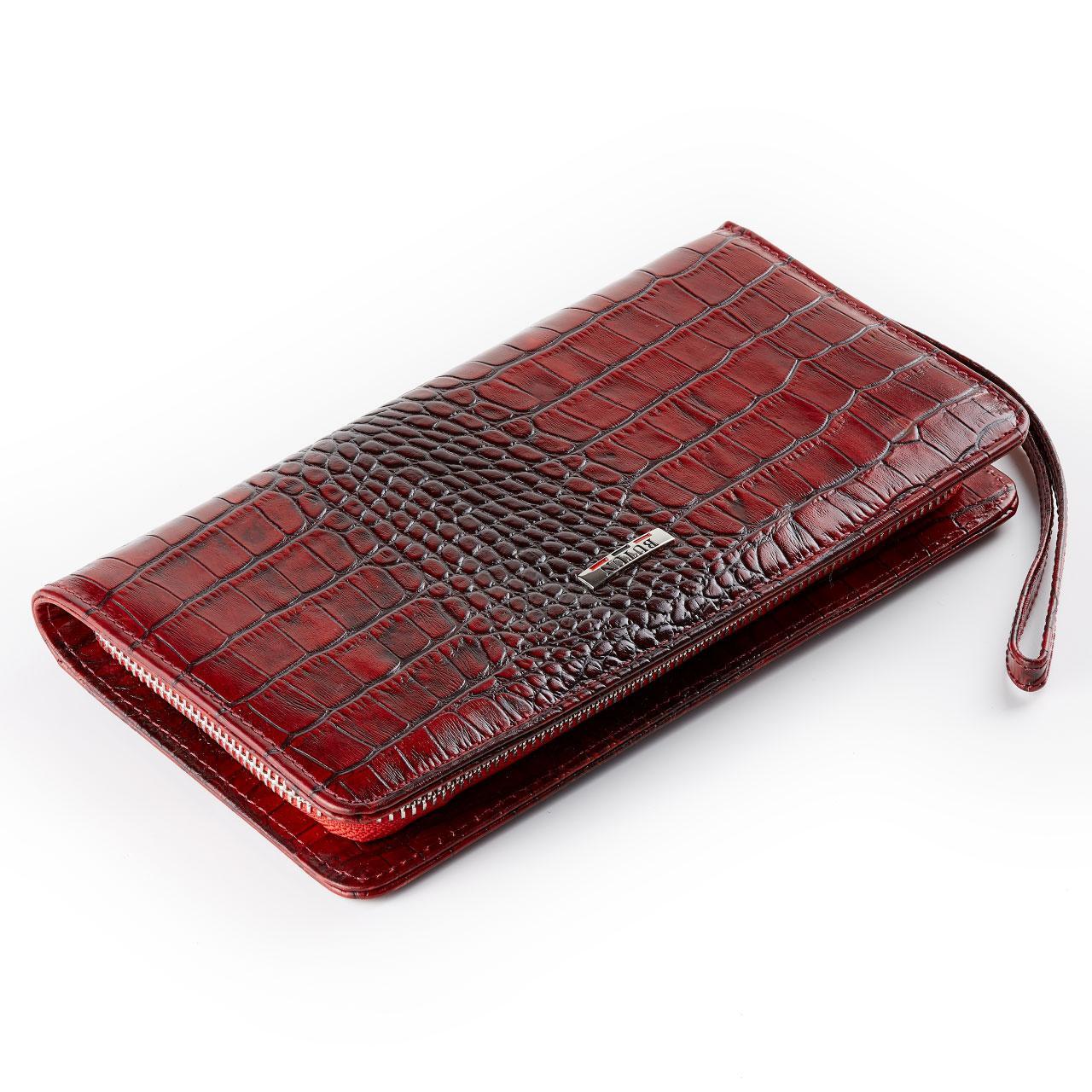 Женский кошелек клатч BUTUN 096-020-006 кожаный красный