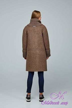 Женское красивое демисезонное пальто (р. 44-54) арт. 1066 Тон 145, фото 2