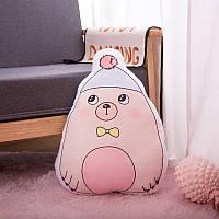 Мягкая игрушка - подушка Стеснительный мишка, 50см Berni