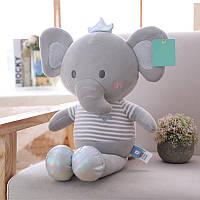 Мягкая игрушка Серый слоник, 50см Berni