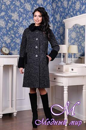 Женское стильное осеннее пальто (р. 44-54) арт. 1066 Тон 260, фото 2