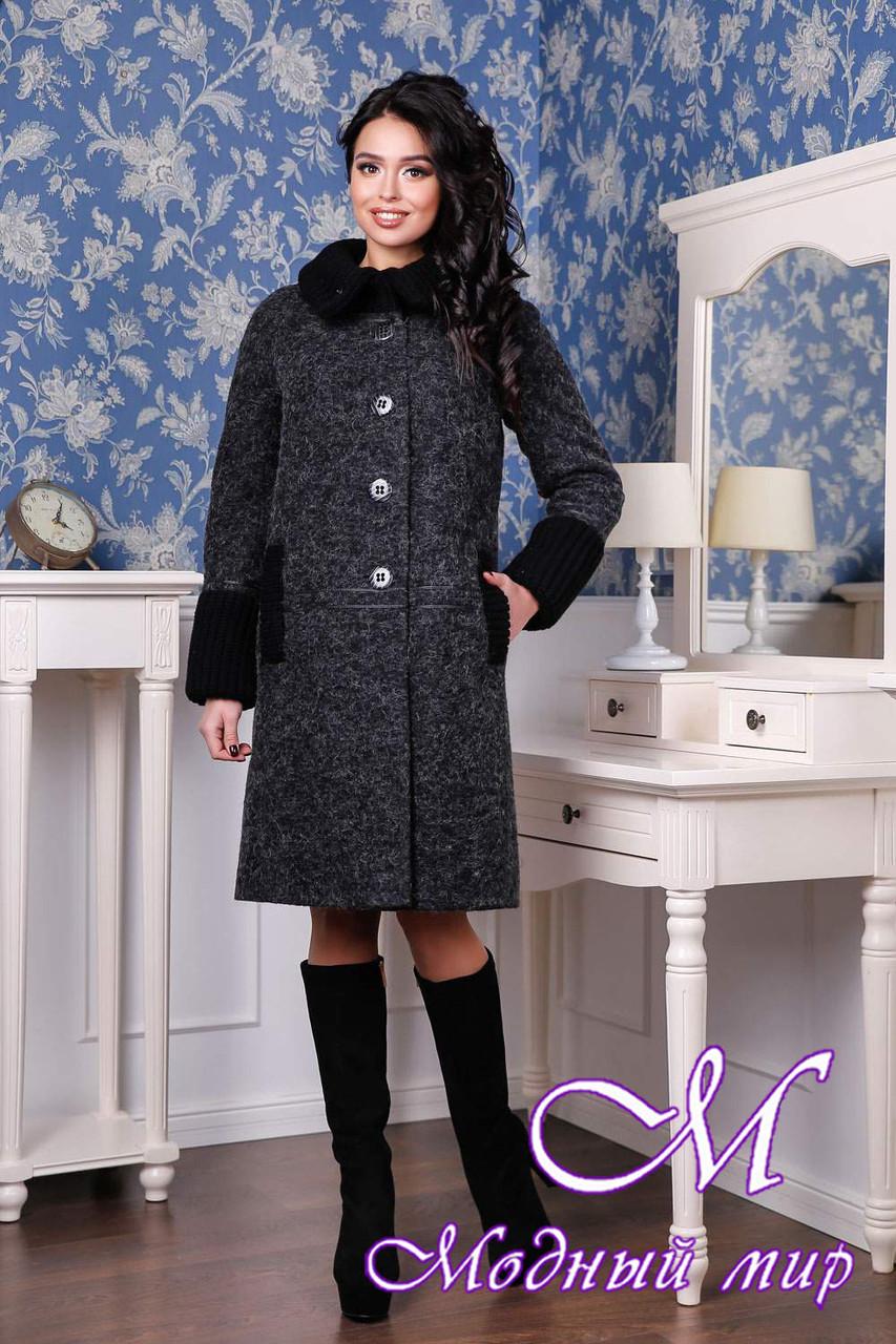 Женское стильное осеннее пальто (р. 44-54) арт. 1066 Тон 260