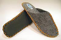 Тапочки войлочные комнатные для мужчин с оранжевым шнурком, фото 1