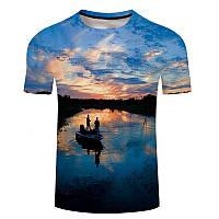 Рыболовная футболка с печатью