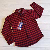 Рубашка байковая  для мальчика ✅Рубашка в клеточку Размеры 3 6 7 лет