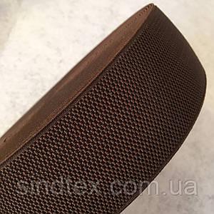 Резинка поясная, манжетная - 6см/25ярд. темно-коричневый