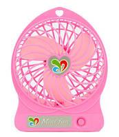 Вентилятор настольный Dellta USB DR-1501 с встроенным аккумулятором Pink #S/O