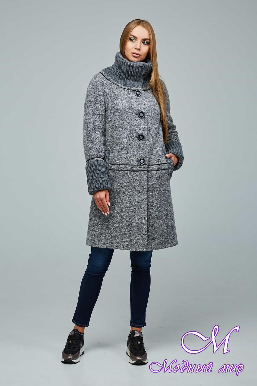 Женское стильное демисезонное пальто больших размеров (р. 44-54) арт. 1066 Тон 105