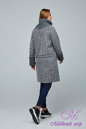Женское стильное демисезонное пальто больших размеров (р. 44-54) арт. 1066 Тон 105, фото 2
