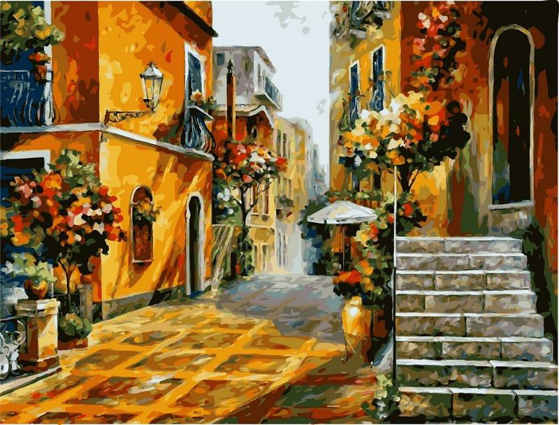 Картина за номерами 40×50 див. Babylon Сонце Сицилії Художник Леонід Афремов (VP076)
