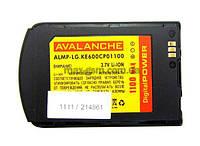 Аккумулятор Avalanche P LG KE600 (1100mAh)