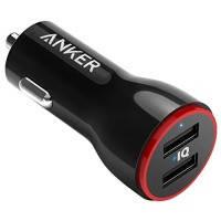 Авто зарядка ANKER PowerDrive 2 24W 2xUSB V3 (Черный)