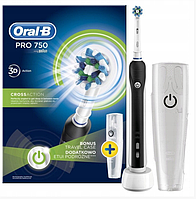 Электрическая зубная щеткаORAL-B PRO 750 D16 CROSSACTION BLACK (D16.513.UX BLACK)