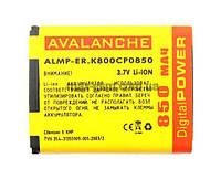 Аккумулятор Avalanche P Sony Ericsson BST-33 (K800, 1000mAh)