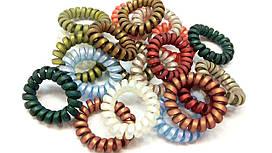 Резинка спиралька цветная