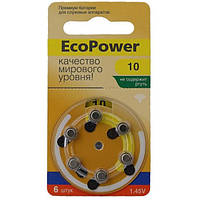 Батарейки для слуховых аппаратов ECOPOWER 10 (6 шт/уп)