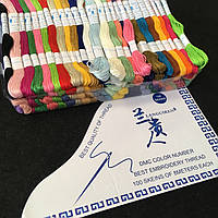 (100шт  по 8м) Набор мулине (нитки для вышивания) Цвета - МИКС