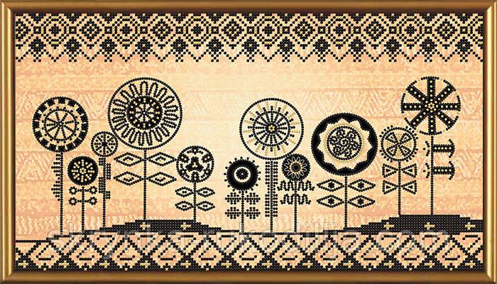 """Схема для вишивки бісером """"Африканські мотиви"""""""