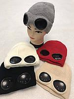 Шапка женская очки микс оптом