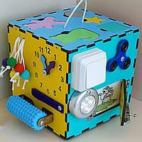 Бизиборд своими руками  Freetime  БизиКуб 20x20x20 см  настольный развивающый бизикуб (Разноцветный )