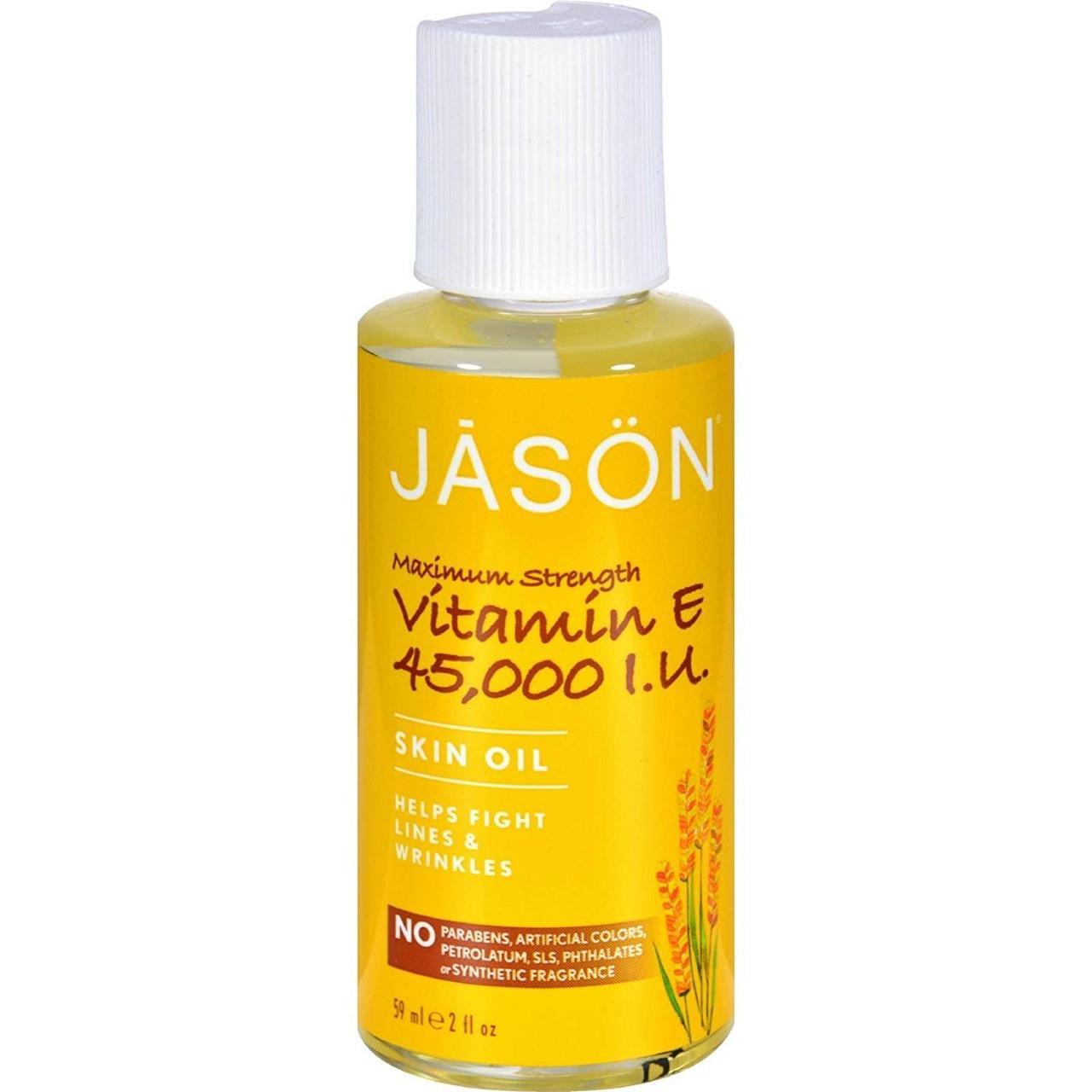 Масло с Витамином Е 45,000 МЕ Максимальная Сила, Jason