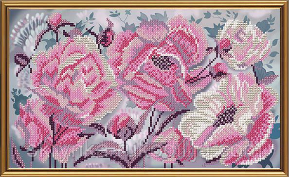 """Схема для вишивки бісером """"Розові піони"""""""