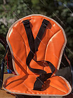 Велокресло детское на женскую раму, скошенную раму, оранжевый