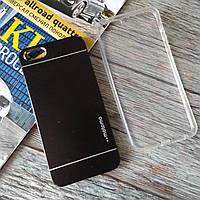 Чехлы для Iphone 5/5s Motomo + силиконовый (черный)