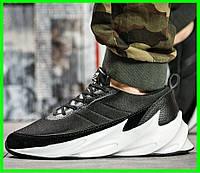 Кроссовки Adidas $harks Мужские Адидас Чёрные с Белым Акула (размеры: 41,42,43,44,45) Видео Обзор