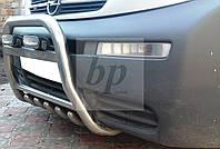 Защита переднего бампера (кенгурятник высокий) Opel vivaro (опель виваро 2001+)